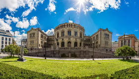 Norwegian Parliament building in Oslo Stock Image