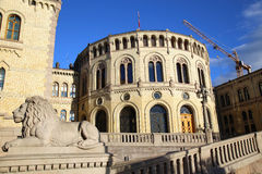 Norwegian parliament , Oslo, Norway Royalty Free Stock Image