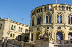 Norwegian parliament Storting Oslo Royalty Free Stock Images