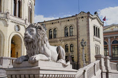 Norwegian parliament Storting in Oslo Stock Photography
