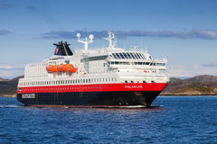 Norwegian passenger cruise ship MS Polarlys. RORVIK, NORWAY - MAY 2013: Norwegian passenger cruise ship MS Polarlys enters the port of Rorvik on May 11, 2013. MS Stock Images