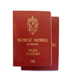 Norwegian passports Stock Photo