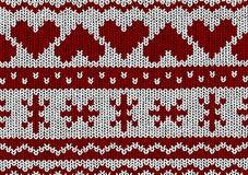 Norwegian pattern - Hearts - Christmas Vector Stock Images