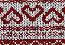 Norwegian pattern - Hearts - Christmas Vector Royalty Free Stock Photography