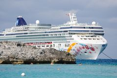 Norwegian Pearl. Part of the Norwegian Cruise line, of the Bahaman coast Royalty Free Stock Images