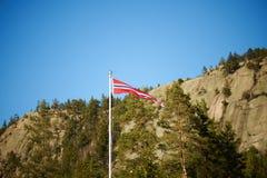 Norwegian pennant on a pole Stock Photos