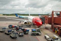 Norwegian plane Stock Photo