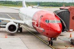 Norwegian plane Royalty Free Stock Photos