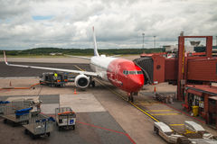 Norwegian plane Royalty Free Stock Photography