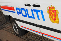 Norwegian police car Stock Images