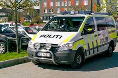 Norwegian police patrol car during patrol Stock Photography