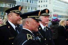 Norwegian police. Men in parade uniforms Royalty Free Stock Image