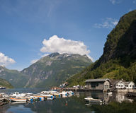 Norwegian port. Geiranger port in geirangerfjord (UNESCO word heritage), Norway Stock Photos