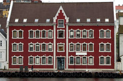 Norwegian port house. Royalty Free Stock Photography