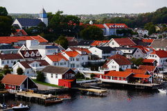 Norwegian port view Langesund, Norway Stock Images