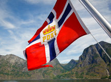 Norwegian Post flag Royalty Free Stock Images