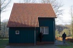 Norwegian Property Flooding in Dutch Open Air Museum in Arnhem Royalty Free Stock Photo