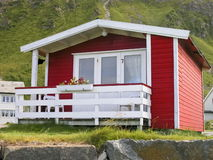 Norwegian red cottage Royalty Free Stock Images