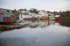 Norwegian red cottage Royalty Free Stock Photo