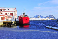 Norwegian Red ship Royalty Free Stock Photo