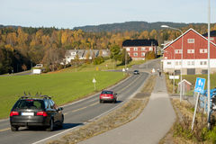 Norwegian road Stock Image