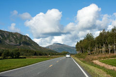 Norwegian road Royalty Free Stock Image