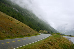 Norwegian roads Royalty Free Stock Photo