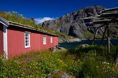 Norwegian rorbu fishing hut Royalty Free Stock Photos
