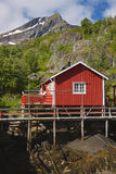 Norwegian Rorbu hut Royalty Free Stock Photography