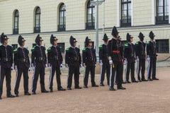 The Norwegian Royal Guard Stock Image