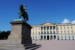 Norwegian royal palace Stock Images