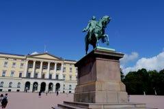Norwegian royal palace Royalty Free Stock Photos