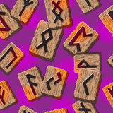 Norwegian runes Abstract vector background with Stock Photography