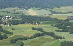 Norwegian rural landscape Royalty Free Stock Photo