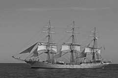 Norwegian sailship sailing under sails Royalty Free Stock Photo