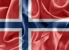 Norwegian satin flag Stock Images