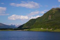 Norwegian scenery. Picturesque scenery on the norwegian coast Royalty Free Stock Photography