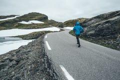 Norwegian Scenic Route Aurlandsfjellet Royalty Free Stock Photo