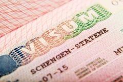 Free Norwegian Schengen Visa In A Passport Stock Image - 119908731