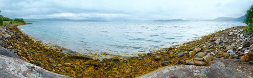 Norwegian Sea cloudy panorama. Royalty Free Stock Photos