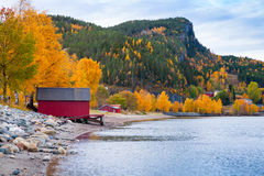 Norwegian Sea coast, autumn landscape Stock Image