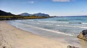 Norwegian Sea and  Coast. Norwegian Sea and beach, Nordic coastal landscape. Norway Stock Photography