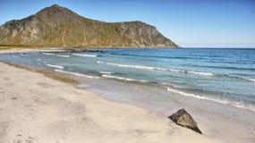 Norwegian Sea and  Coast. Norwegian Sea and beach, Nordic coastal landscape. Norway Royalty Free Stock Photo
