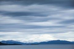 Norwegian sea, dark blue coastal landscape Stock Images