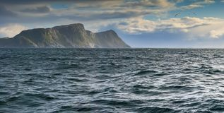 Norwegian Sea near Alesund, Norway. Alesund is a famous resort and tourist city in Norway Royalty Free Stock Photo