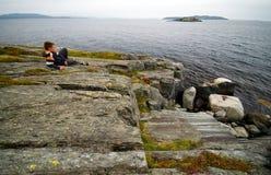Norwegian sea watching. Royalty Free Stock Photo