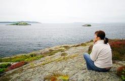 Norwegian sea watching  Stock Photo