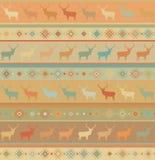 Norwegian seamless pattern. EPS 8 Royalty Free Stock Photo