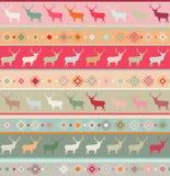 Norwegian seamless pattern. EPS 8 Royalty Free Stock Image