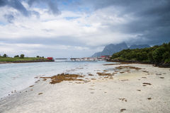 Norwegian seaside during lowtide, horizontal shot Royalty Free Stock Image